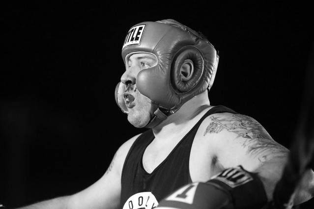 <p>A bloody-nosed Nick Albergo stands in the corner during a grudge match at the Brooklyn Smoker in the parking lot of Gargiulo's Italian restaurant in Coney Island, Brooklyn, on Aug. 24, 2017. (Photo: Gordon Donovan/Yahoo News) </p>