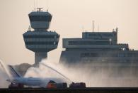 Last flight departs from Berlin's Tegel airport, which closes permanently following the recent opening of the new Berlin-Brandenburg (BER) airport, in Berlin