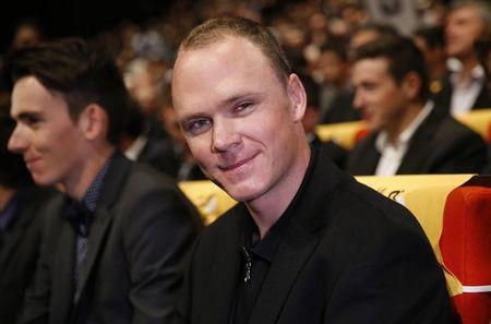 Rider Chris Froome of Britain attends the presentation of the itinerary of the 2017 Tour de France cycling race during a news conference in Paris, France, October 18, 2016. REUTERS/Benoit Tessier/Files