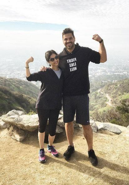 The popular hike through the iconic Runyon Canyon Park is the hot choice for famous faces to work up a sweat, and we got to try it with none other than Gerard Butler's personal trainer, Wes Okerson. Source: Supplied