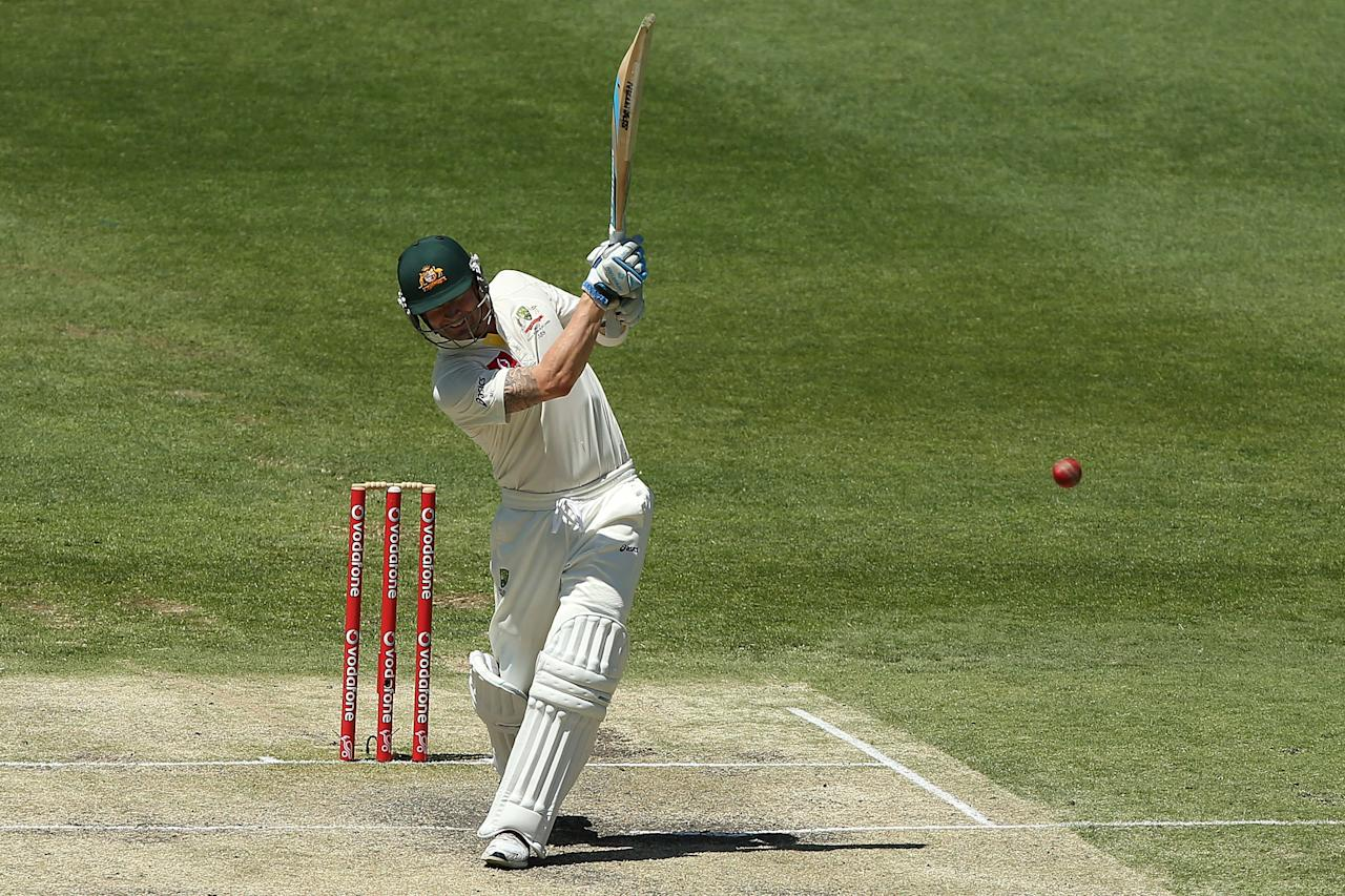 BRISBANE, AUSTRALIA - NOVEMBER 13:  Michael Clarke of Australia bats during day five of the First Test match between Australia and South Africa at The Gabba on November 13, 2012 in Brisbane, Australia.  (Photo by Chris Hyde/Getty Images)