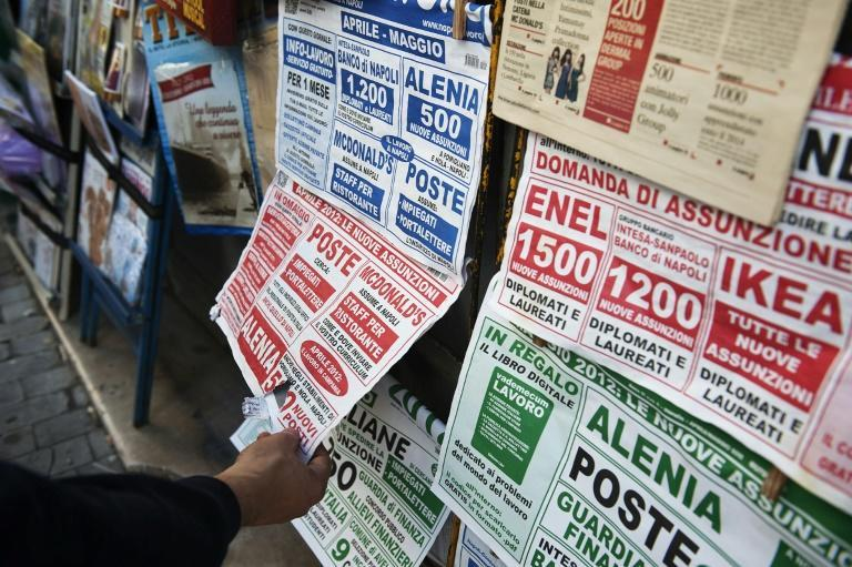 Job ads in newspapers in Naples.