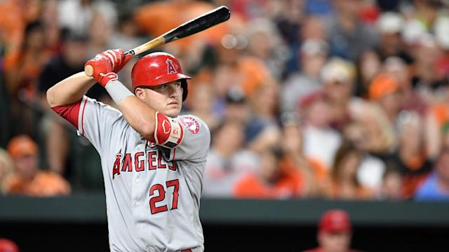 Mike Trout remains good at baseball. (AP)