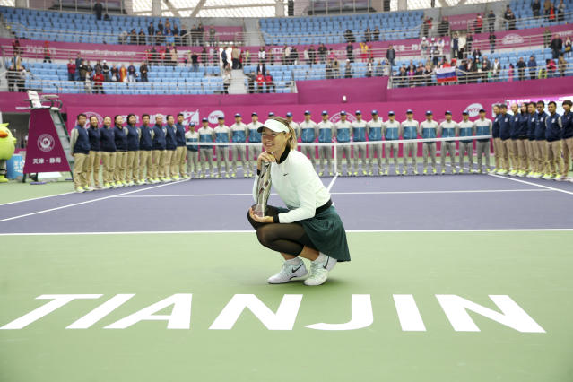 In October, claimed her first title in two years by winning the Tianjin Open. It was the 36th singles title of her career - and the last.