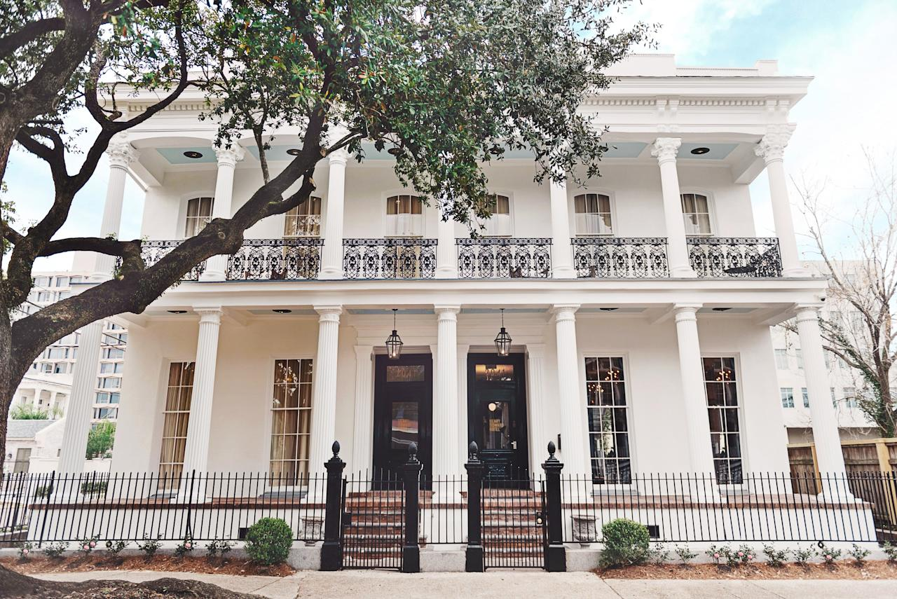 """<p><strong>First impressions?</strong><br> Debonair townhouses are a stock in trade of this part of the Lower Garden District, but the name of local architectural hero Henry Howard gives it an extra seal of approval and the Greek revival façade and wrought-iron balconies didn't shatter my idyllic expectations.</p> <p><strong>What's the crowd like?</strong><br> The Garden District in general attracts a lower-key, more mature and affluent crowd, and older couples were the most regular co-lounger in the elegant front parlor.</p> <p><strong>How were the rooms?</strong><br> My Superior King had polished wooden floors, 12-foot ceilings and windows, and exposed brickwork that maintained the period feel. The furnishings mixed modern fabrics and older wooden furniture. Quirky portraits of the owner's family adorned the walls, which were covered in whimsical steamboat wallpaper. The King bed was described as 'sculptural', which in reality meant a modern version of a four poster, with metal polls replacing wooden posts, but it was incredibly comfortable. The bathrooms are an exercise in good-looking, modern simplicity with gleaming white porcelain and Beekman 1802 toiletries.</p> <p><strong>How about the little things?</strong><br> The sense of place was really augmented with the wall-mounted saxophone—it's far less gimmicky than it sounds.</p> <p><strong>Wi-Fi. What's the word?</strong><br> The house may be old but the Wi-Fi was great.</p> <p><strong>And, the staff?</strong><br> Shawn at the front desk went out of her way to welcome and orient and me.</p> <p><strong>Anything else stand out?</strong><br> The front parlor, with its Italianate detailing and decadent gold trim, really delivered that upscale New Orleans lifestyle, and was a hard place to leave after the early evening aperitifs overlooking the Garden District.</p> <p><strong>Bottom line.</strong><br> It's a relatively new property for <a href=""""https://www.cntraveler.com/destinations/new-orleans?mbid=synd_yahoo_rss"""""""