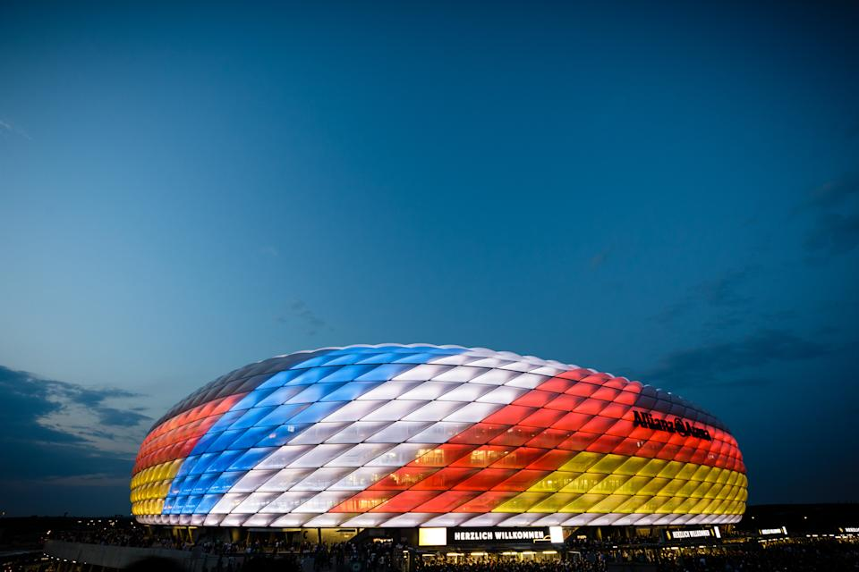MUNICH, GERMANY - SEPTEMBER 06: General view of the stadium prior to the UEFA Nations League group A match between Germany and France at Allianz Arena on September 6, 2018 in Munich, Germany. (Photo by Reinaldo Coddou H./Getty Images)
