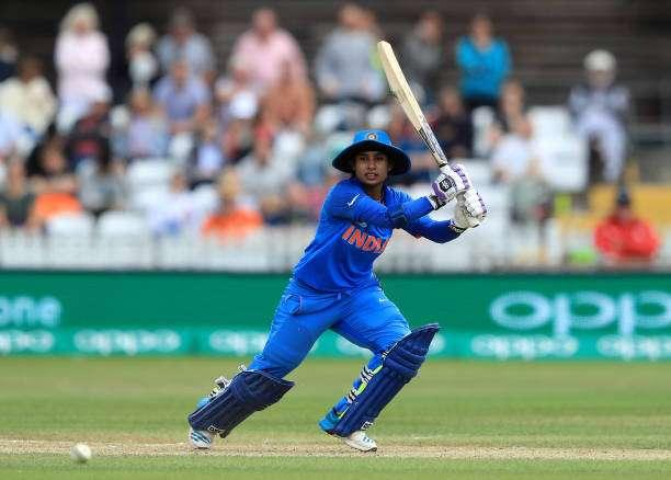 DERBY, ENGLAND - JUNE 24: Mithali Raj of India bats during the England v India group stage match at the ICC Women's World Cup 2017 at The 3aaa County Ground on June 24, 2017 in Derby, England. (Photo by Richard Heathcote/Getty Images)