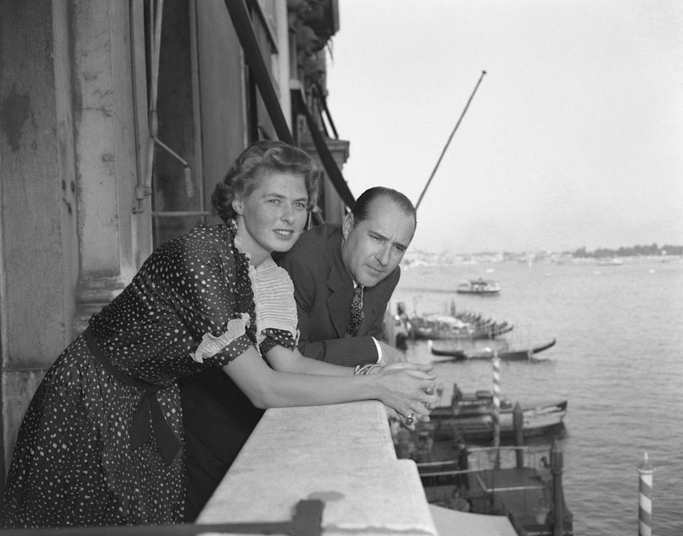 """<p>Despite beginning in a scandalous affair, Ingrid Bergman and Roberto Rossellini were married on May 24, 1950. Ingrid's divorce proceedings were tied up in a custody battle, so she couple got <a href=""""https://www.thevintagenews.com/2018/02/07/ingrid-bergman/"""" rel=""""nofollow noopener"""" target=""""_blank"""" data-ylk=""""slk:divorced and married by proxy in Mexico"""" class=""""link rapid-noclick-resp"""">divorced and married by proxy in Mexico</a>.</p>"""