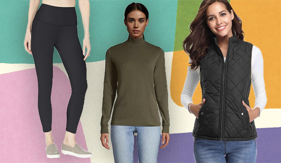 Excellent leggings, layering pieces, and outerwear are some of Amazon's best-kept secrets—we'll let you in on the gems, on sale for Black Friday. (Photo: Amazo