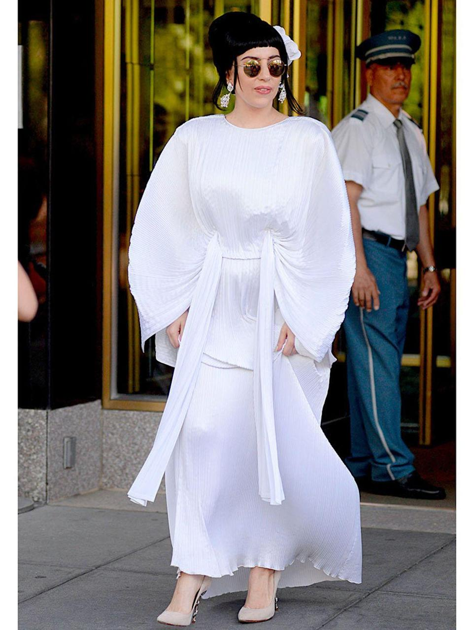 <p>Lady Gaga seen out and about in Central Park, New York.</p>