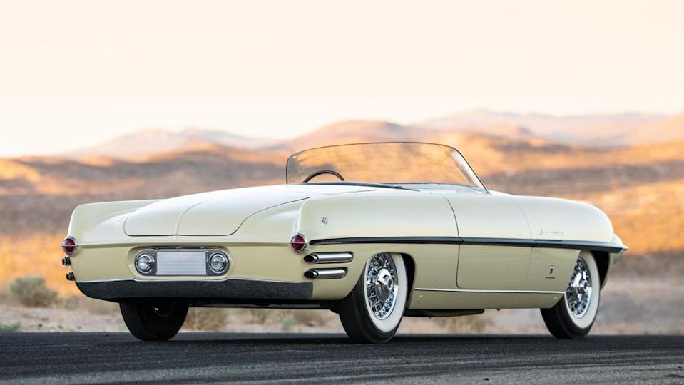 Carrozzeria Ghia's body sits atop a Dodge chassis. - Credit: Photo by Patrick Ernzen, courtesy of RM Sotheby's.