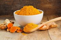 """<p>The golden-hued spice contains curcumin, an anti-inflammatory antioxidant compound that could help prevent cancer or slow its growth, <a href=""""https://www.mayoclinic.org/diseases-conditions/cancer/expert-answers/curcumin/faq-20057858"""" rel=""""nofollow noopener"""" target=""""_blank"""" data-ylk=""""slk:Mayo Clinic"""" class=""""link rapid-noclick-resp"""">Mayo Clinic</a> experts say. """"The potent antioxidant activity might fight against cell damage, which may prevent mutations that could lead to cancerous changes in cells,"""" Palinski-Wade explains. """"Since there are very few side effects of including <a href=""""https://www.prevention.com/food-nutrition/healthy-eating/a20635784/turmeric-benefits/"""" rel=""""nofollow noopener"""" target=""""_blank"""" data-ylk=""""slk:turmeric"""" class=""""link rapid-noclick-resp"""">turmeric</a> in your diet, adding a spoonful to your cooking daily may only help to improve your overall health.""""</p><p><strong>Try it:</strong> <a href=""""https://www.prevention.com/food-nutrition/recipes/g25779906/turmeric-smoothies/"""" rel=""""nofollow noopener"""" target=""""_blank"""" data-ylk=""""slk:Turmeric Twist Smoothie"""" class=""""link rapid-noclick-resp"""">Turmeric Twist Smoothie</a></p>"""