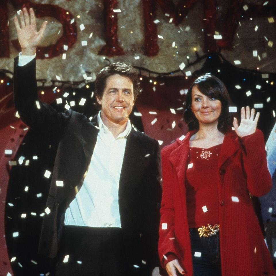 """<p>Grant is inarguably at his most charming in the 2003 classic holiday film where he plays the prime minister of Britain who eventually falls in love with his girl-next-door-esque assistant. The film's hottest moment? Easily the iconic dance scene after the PM unwinds with a pint after a long day's work. </p><p><a class=""""link rapid-noclick-resp"""" href=""""https://www.amazon.com/Love-Actually-Bill-Nighy/dp/B001JIES4Q?tag=syn-yahoo-20&ascsubtag=%5Bartid%7C10056.g.34990725%5Bsrc%7Cyahoo-us"""" rel=""""nofollow noopener"""" target=""""_blank"""" data-ylk=""""slk:WATCH NOW"""">WATCH NOW</a></p>"""