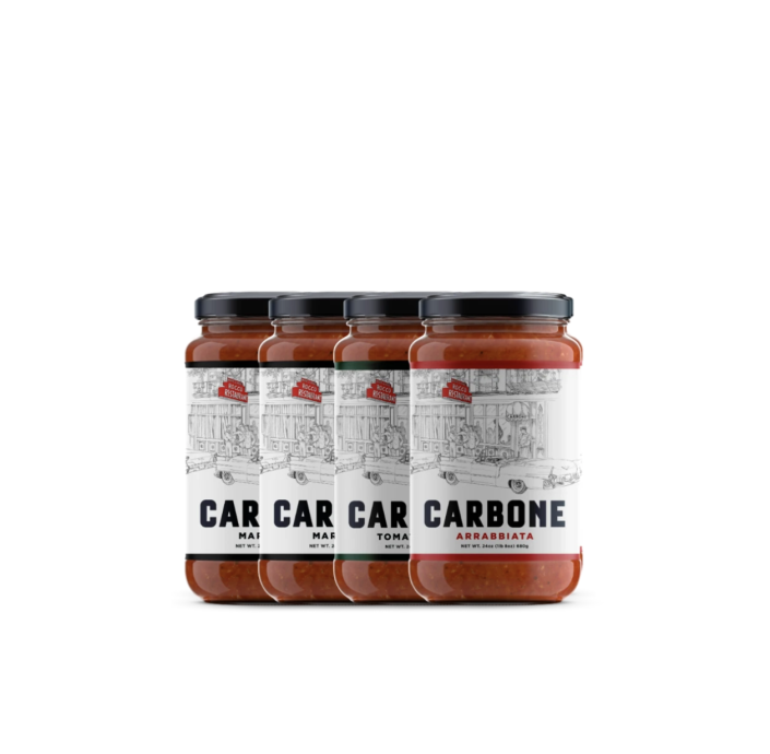 """<p>carbonefinefood.com</p><p><strong>$39.96</strong></p><p><a href=""""https://carbonefinefood.com/collections/all/products/4-pack-variety-of-3-sauces"""" rel=""""nofollow noopener"""" target=""""_blank"""" data-ylk=""""slk:BUY IT HERE"""" class=""""link rapid-noclick-resp"""">BUY IT HERE</a></p><p>This sauce set is *chef's kiss*. If Dad hasn't tried the delicious dishes at Carbone, he can now make some crazy-good Italian feasts at home with a little help from the beloved restaurant's marinara, tomato basil, or arrabbiata sauce. </p>"""