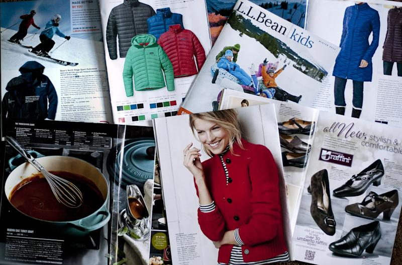Fewer holiday catalogs but still plenty in mail