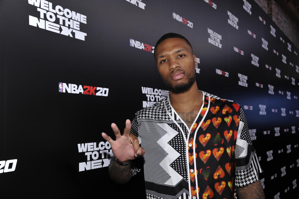 Damian Lillard released a take-no-prisoners diss track about Shaq. (Photo by John Sciulli/Getty Images for NBA 2K20)
