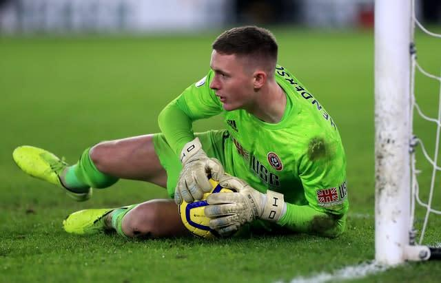 Dean Henderson is set to stay with the Blades (Mike Egerton/PA)