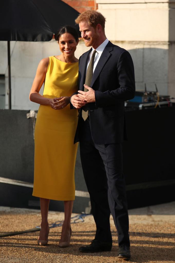 """The Duke and Duchess of Sussex attend the """"Your Commonwealth"""" Youth Challenge reception at Marlborough House in London. (Photo: Yui Mok/PA Wire)"""