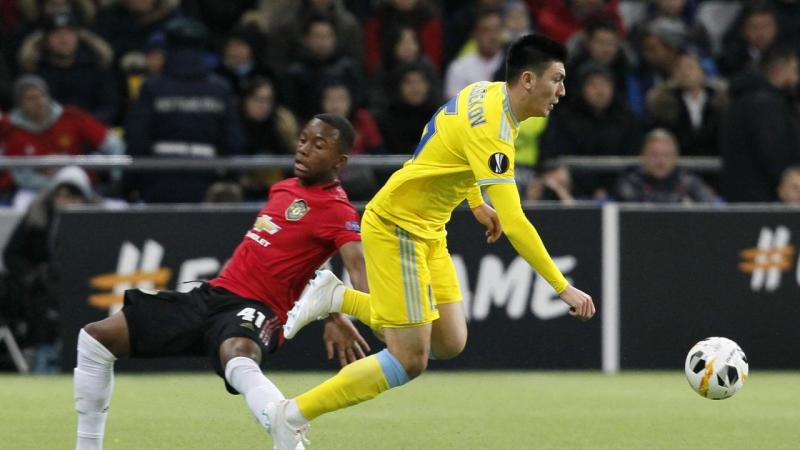 A young Manchester United side have lost to Astana 2-1 in the Europa League clash in Kazakhstan
