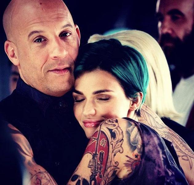 Ruby formed a close bond with Vin Diesel. Source: Instagram.