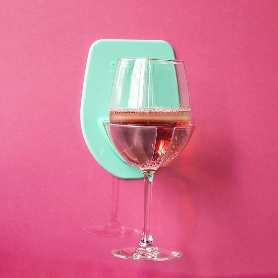 <p>Have a relaxing bath or shower with the <span>30 Watt Silicone Wine Glass Holder for Bath &amp; Shower</span> ($15).</p>