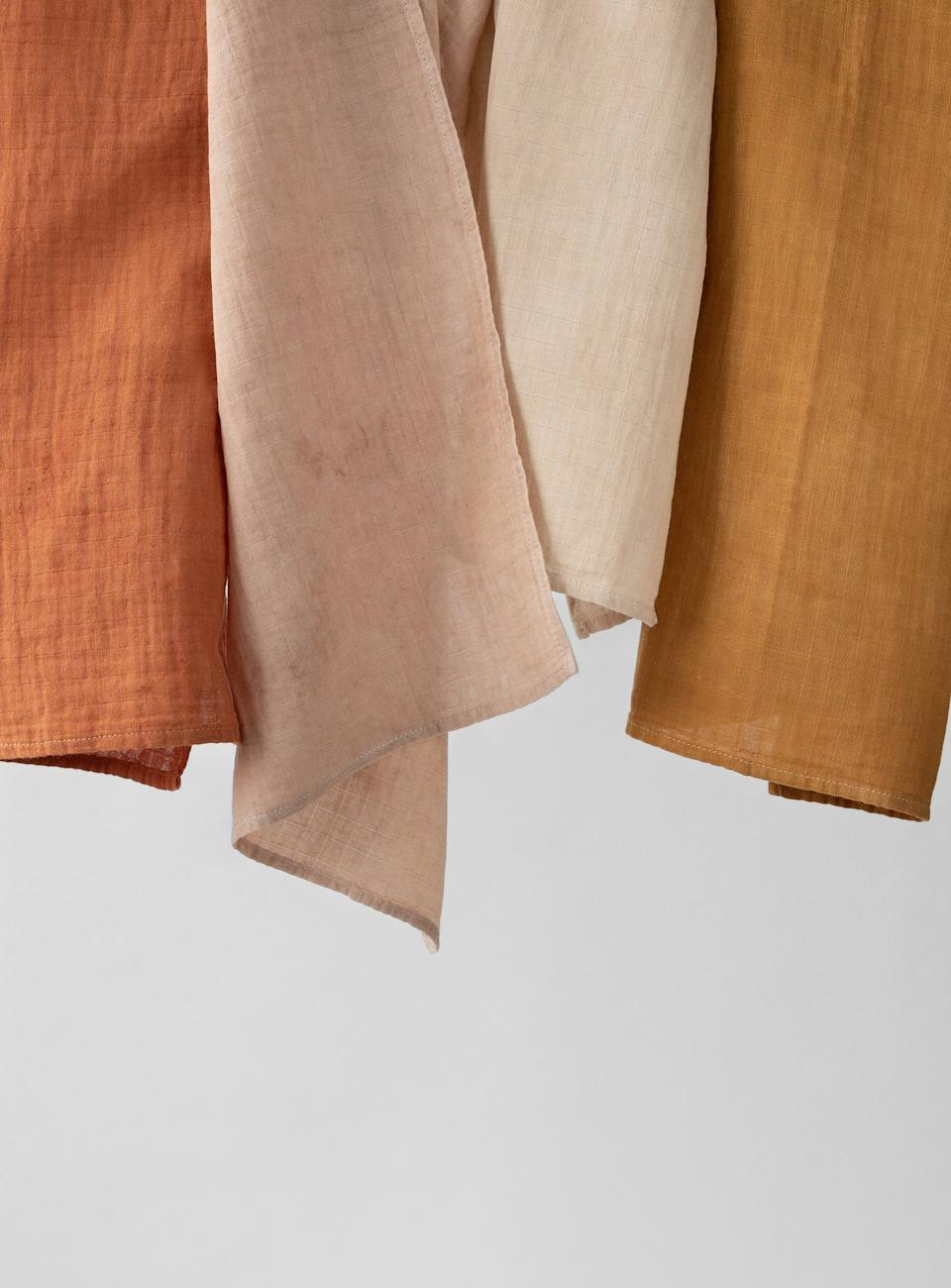 La Petite Leonne naturally dyed tea towel, from $26.