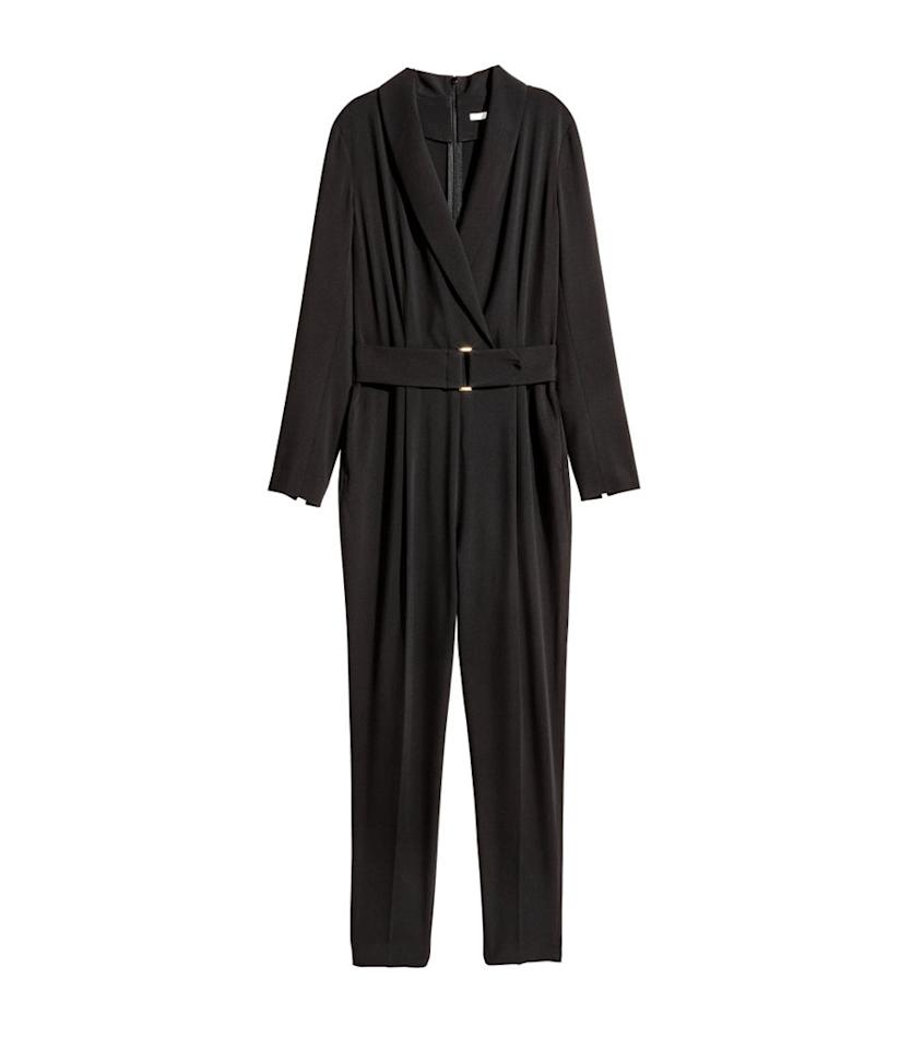 "<p>V-neck jumpsuit, $60, <a rel=""nofollow"" href=""http://www.hm.com/us/product/56519?article=56519-A&cm_vc=SEARCH"">hm.com</a> </p>"