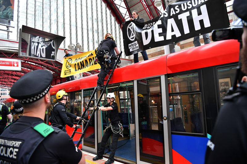 The Extinction Rebellion protest in London