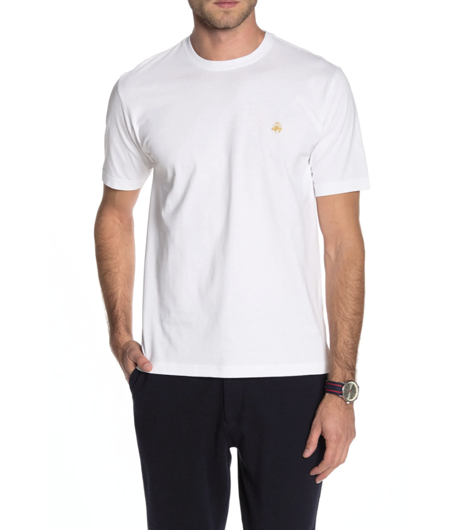 Brooks Brothers Crew Neck T-Shirt in White (Photo via Nordstrom Rack)