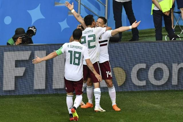 Javier Hernandez was a constant menace for Mexico