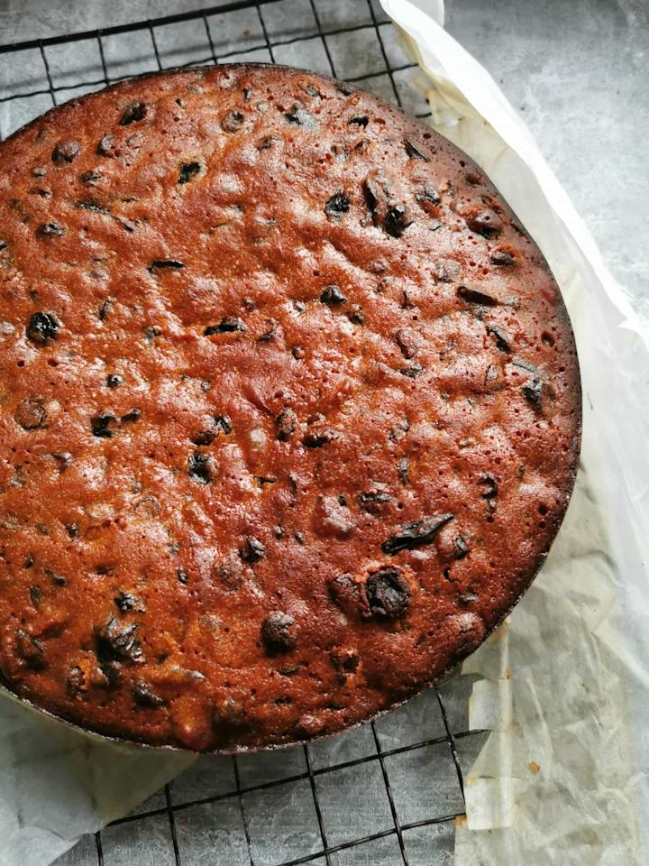 "<p>Top this amaretto-flavored fruitcake with a jam glaze or a thick layer of royal icing for a beautiful finish.</p><p><strong>Get the recipe at <a href=""https://somethingsweetsomethingsavoury.com/amaretto-fruit-cake/"" target=""_blank"">Something Sweet Something Savoury</a>.</strong></p><p><strong><strong><a class=""body-btn-link"" href=""https://www.amazon.com/Springform-set%EF%BC%8CNonstick-Leakproof-Cheesecake-MASSUGAR/dp/B07CG6JGJP/ref=sr_1_4?tag=syn-yahoo-20&ascsubtag=%5Bartid%7C10050.g.3610%5Bsrc%7Cyahoo-us"" target=""_blank"">SHOP CAKE PANS</a></strong><br></strong></p>"