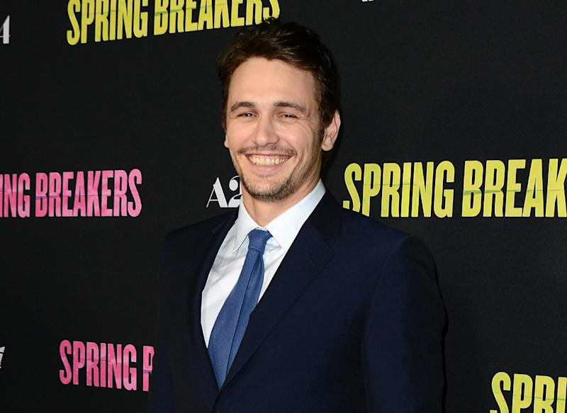 "FILE - This March 14, 2013 file photo shows actor James Franco at the LA premiere of ""Spring Breakers"" at the ArcLight Hollywood in Los Angeles. Franco is seeking to raise $500,000 to bankroll a trilogy of movies. Franco on launched a campaign, Monday, June 17, on IndieGogo, a crowd-funding site that allows people to keep the money they raise, even if the project doesn't come to fruition. Franco isn't trying to direct the films, but to raise money so that a collection of young filmmakers can adapt his 2011 short story collection, ""Palo Alto.""  (Photo by Jordan Strauss/Invision/AP)"