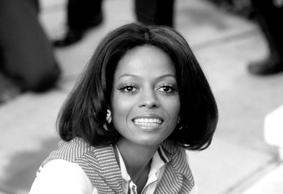 Diana Ross is photographed in London, England, in 1973