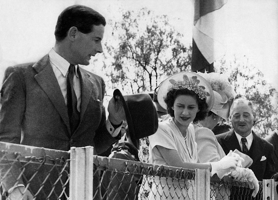 """<p>Princess Margaret calls off <a href=""""https://www.townandcountrymag.com/society/tradition/news/a8139/princess-margaret-peter-townsend-love-affair/"""" rel=""""nofollow noopener"""" target=""""_blank"""" data-ylk=""""slk:plans to marry Captain Peter Townsend"""" class=""""link rapid-noclick-resp"""">plans to marry Captain Peter Townsend</a> after not getting the required consent from her sister. Townsend was Equarry to King George VI and also Queen Elizabeth II.</p>"""
