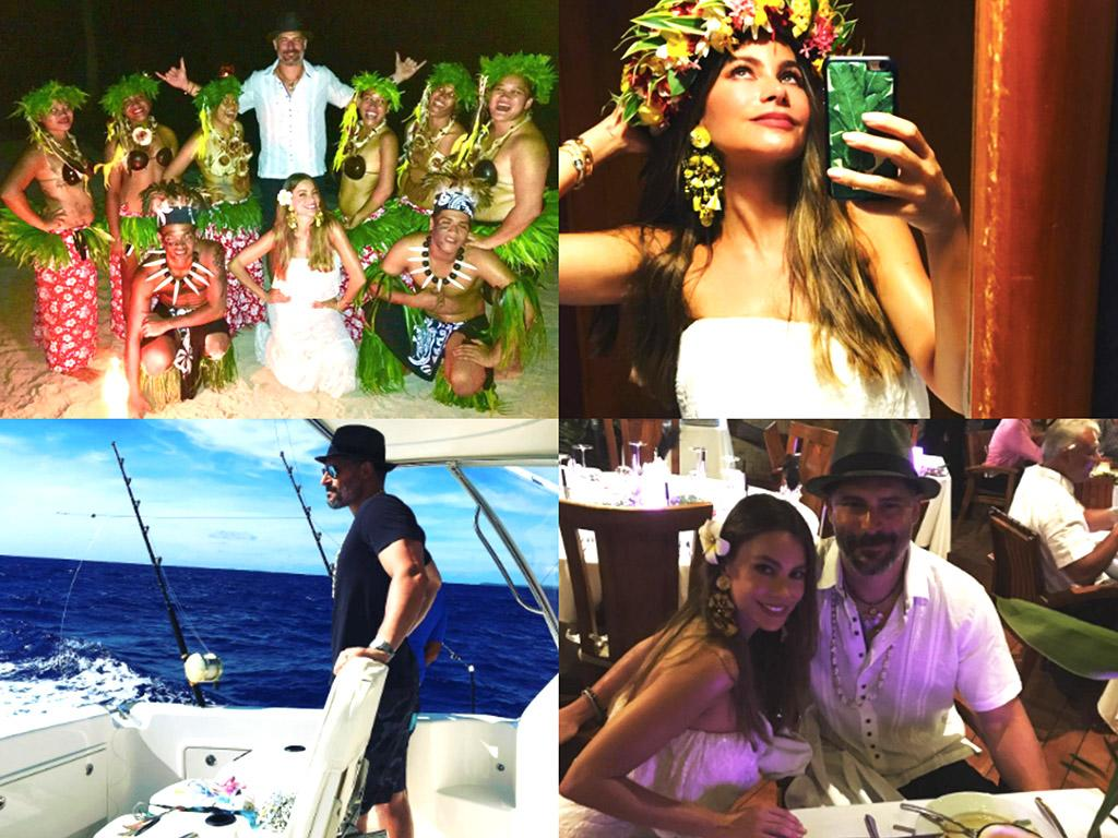 """<p>It turns out the pretty pair needed a vacation from their vacations. After <a rel=""""nofollow"""" href=""""https://www.yahoo.com/celebrity/stars-escape-holidays-slideshow-wp-182018297/photo-p-instagram-sofiavergara-p-photo-182018095.html"""">bringing their families to Bora Bora</a> right before Christmas to celebrate Joe's 40th birthday (and a jaunt to Mexico before that), they peeled off to another French Polynesian island, Taha'a, for some couple time. Here are their pictures — or, more precisely, a bunch of photos he took of her and a few of them together. </p>"""