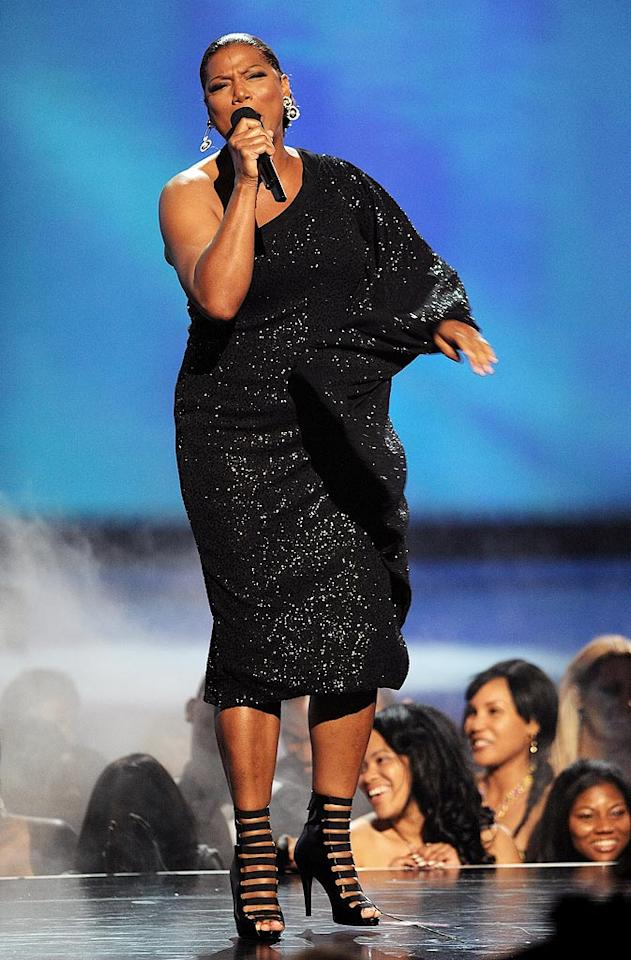 "Not only did Queen Latifah host the 10th annual show, but she performed at it as well! Too bad she paired her sparkling gown with these unflattering, clunky, patent-leather pumps. Kevin Mazur/<a href=""http://www.wireimage.com"" target=""new"">WireImage.com</a> - June 27, 2010 Kevin Mazur/<a href=""http://www.wireimage.com"" target=""new"">WireImage.com</a> - June 27, 2010"