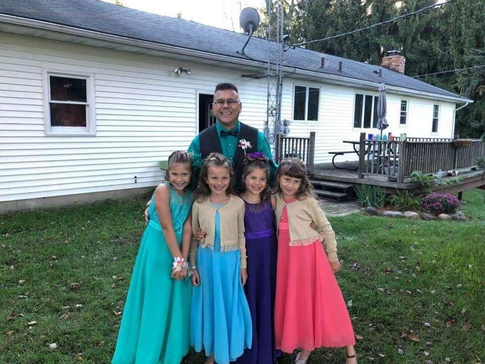 Steve Culbert heads to the dance with his two daughters and Avery and Alivia Reece. (Photo: Courtesy of Steve Culbert)