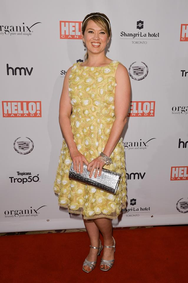 TORONTO, ON - MAY 09:  Actress Naomi Snieckus arrives at the Hello! Canada gala celebrating Canada's 50 Most Beautiful at Shangri-La Hotel on May 9, 2013 in Toronto, Canada.  (Photo by George Pimentel/Getty Images)