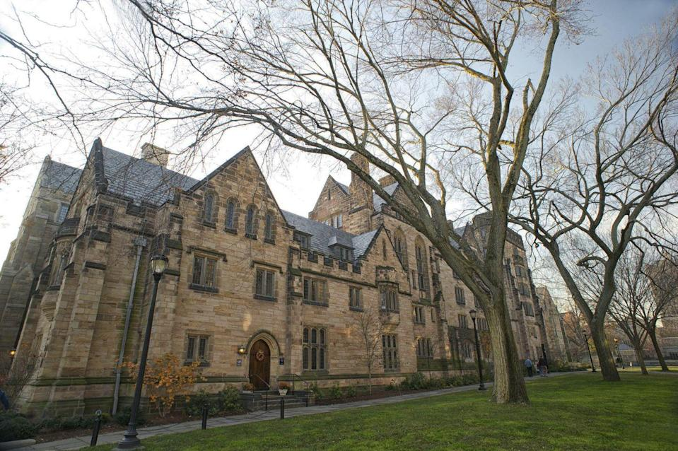 """<p>New Haven, Connecticut</p><p>Tuition: <a href=""""https://student-accounts.yale.edu/tuition-and-fees"""" rel=""""nofollow noopener"""" target=""""_blank"""" data-ylk=""""slk:$51,400"""" class=""""link rapid-noclick-resp"""">$51,400</a></p>"""