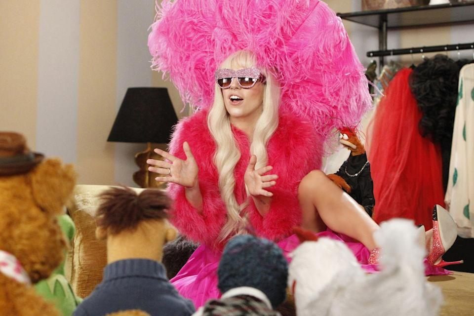 "<p>Thanksgiving TV specials got kicked up a notch when Lady Gaga appeared on ABC alongside the Muppets for a Holiday Spectacular. The variety show featured Miss Piggy, Kermit the Frog and guests like Elton John and RuPaul, all performing Gaga's hits as well as classic <a href=""https://www.goodhousekeeping.com/holidays/christmas-ideas/g2680/christmas-songs/"" rel=""nofollow noopener"" target=""_blank"" data-ylk=""slk:Christmas songs"" class=""link rapid-noclick-resp"">Christmas songs</a></p>"
