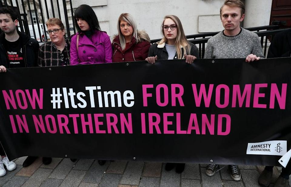 Pro-choice campaigners (Brian Lawless/PA) (PA Archive)