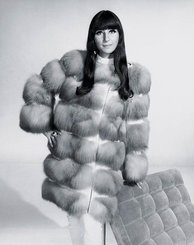 "<b>1970:</b> Cher designed this ensemble for the film ""Good Times."" ""I wore it to death,"" she says. Her eyes are inspired by model Peggy Moffitt. ""I used cake liner that you had to spit into and did a thick line above my lashes and over the hood of my eyelids. Garbo did it too, but mine was stark, not subtle. Luckily, I've got a lot of space up there.""   <a href=""http://news.instyle.com/2010/11/17/secrets-from-christina-aquileras-burlesque-makeup-artist/?xid=omg-burlesque-makeup?yahoo=yes"" target=""new"">Find Out Secrets From Christina Aguilera's 'Burlesque' Makeup Artist</a> Michael Ochs Archives/<a href=""http://www.gettyimages.com/"" target=""new"">GettyImages.com</a> - 1970"