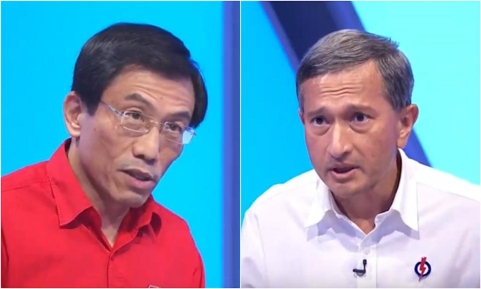 Singapore Democratic Party chief Chee Soon Juan debated against Foreign Affairs Minister Vivian Balakrishnan in a televised broadcast featuring representatives from four political parties on 1 July 2020.