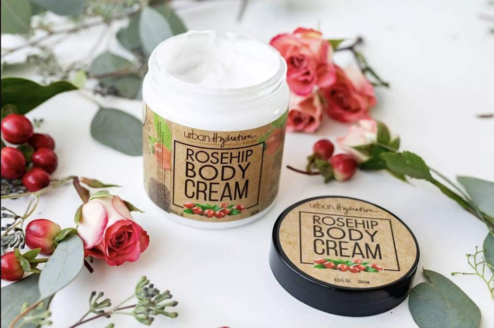 <p>Keep your skin smooth and soft with the <span>Urban Hydration Rosehip Body Cream</span> ($7).</p>