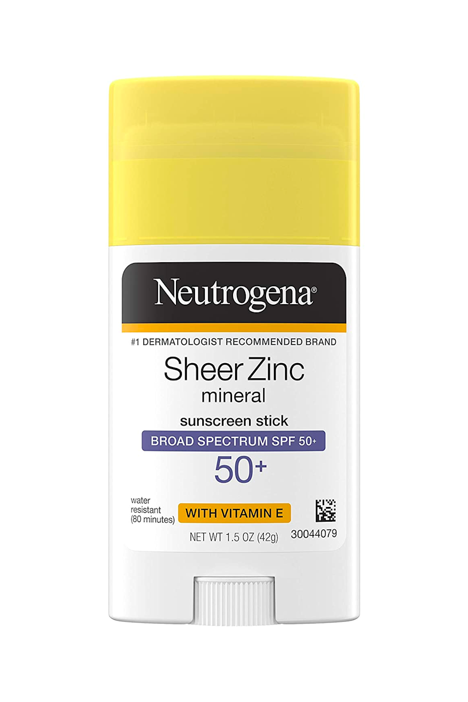 """<p><strong>Neutrogena</strong></p><p>amazon.com</p><p><strong>$12.97</strong></p><p><a href=""""https://www.amazon.com/dp/B07YH19JQW?tag=syn-yahoo-20&ascsubtag=%5Bartid%7C10049.g.35993297%5Bsrc%7Cyahoo-us"""" rel=""""nofollow noopener"""" target=""""_blank"""" data-ylk=""""slk:Shop Now"""" class=""""link rapid-noclick-resp"""">Shop Now</a></p><p>This convenient little sunscreen stick offers gentle—but effective!—sun protection (shout out to the formula's zinc oxide) and a sheer, <strong>lightweight finish that legit <em>glides</em> onto your skin</strong>. It's even spiked with <a href=""""https://www.cosmopolitan.com/style-beauty/beauty/a27609307/vitamin-e-for-skin-benefits-products/"""" rel=""""nofollow noopener"""" target=""""_blank"""" data-ylk=""""slk:vitamin E"""" class=""""link rapid-noclick-resp"""">vitamin E</a>, so you get a nice dose of hydration too. Not bad for $12.</p>"""