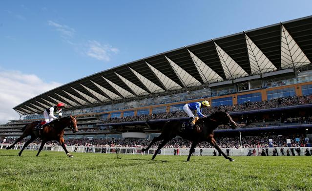 Horse Racing - Royal Ascot - Ascot Racecourse, Ascot, Britain - June 20, 2018 Poet's Word ridden by James Doyle wins the 4.20 Prince of Wales's Stakes Action Images via Reuters/Paul Childs TPX IMAGES OF THE DAY
