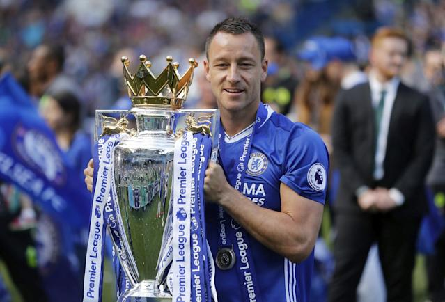 Terry signed off in style by lifting the Premier League title