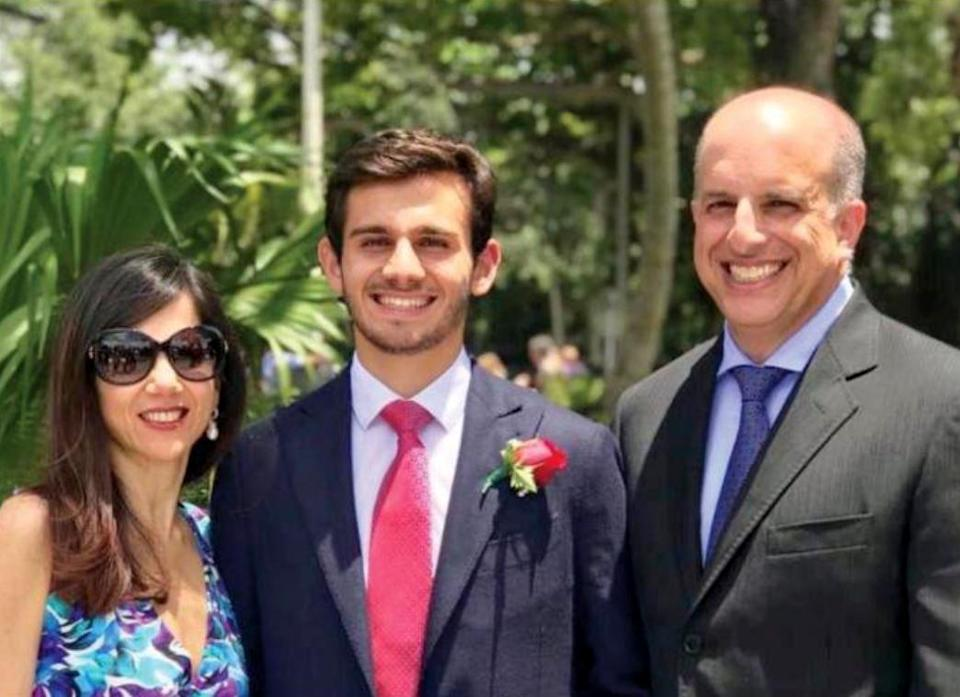 Image: Antonio Tsialas and his parents in an undated photo. (via Cornell Daily Sun)