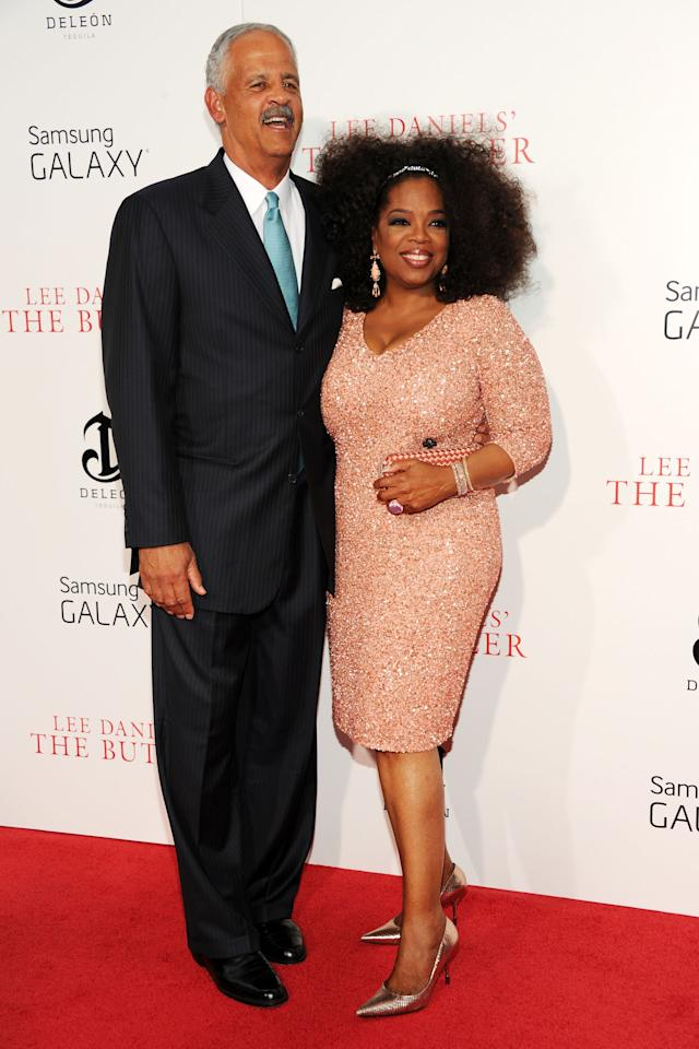 "NEW YORK, NY - AUGUST 05:  Graham Stedman (L) and Oprah Winfrey attend Lee Daniels' ""The Butler"" New York Premiere at Ziegfeld Theater on August 5, 2013 in New York City.  (Photo by Ben Gabbe/Getty Images)"