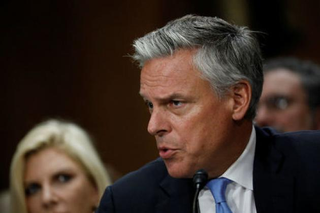 U.S. Senate panel backs Huntsman to be Trump's ambassador to Russia
